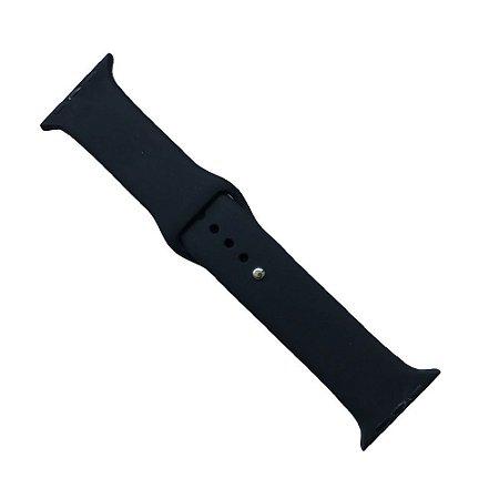 Pulseira Apple Watch Silicone 42mm - Preta