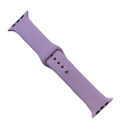 Pulseira Apple Watch Silicone 42mm - Lilás