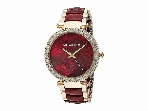 f8c85f2a0dcdb Relógio Michael Kors Feminino - Mk6427 Dourado Vinho - ED ...