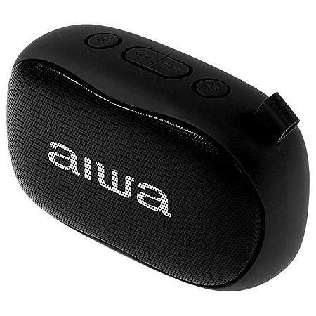 Speaker Aiwa AW S21 com Bluetooth/FM/Microfone Bateria de 1.200 mAh - Preto