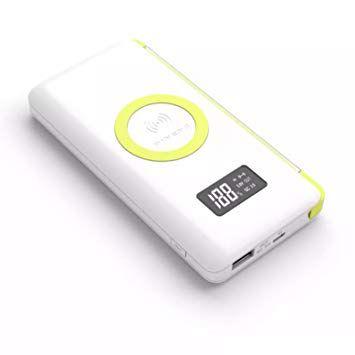 Carregador Portátil Pineng 10000mAh USB Display Led - Branco