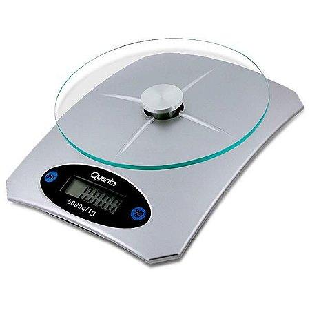 Balança Digital para Cozinha Quanta QTBLC5000 para até 5 kg - Prata