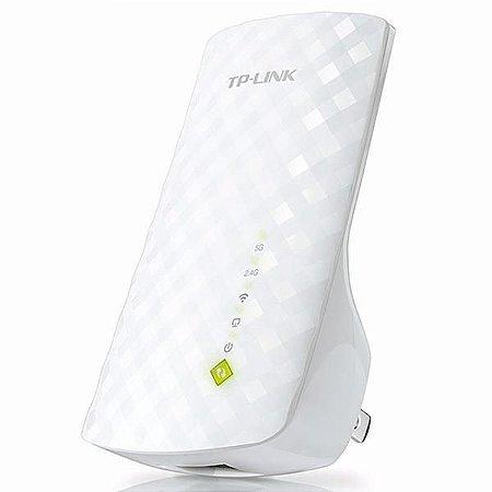 Repetidor de Sinal Wi-Fi TP-Link RE200 AC750 300Mbps em 2.4GHz + 433Mbps em 5GHz - Branco