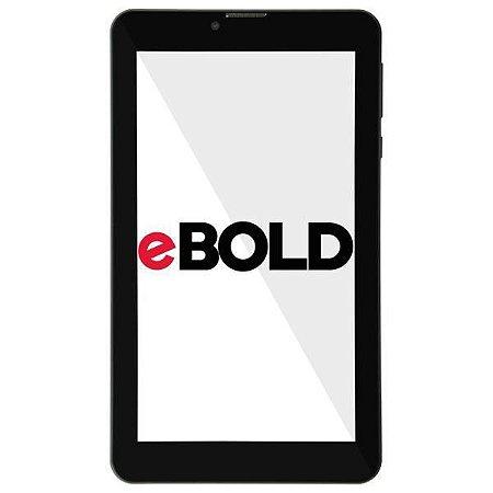 "Tablet eBOLD TB-720 Dual SIM 16GB Tela de 7.0"" 5MP/2MP OS Android - Preto"