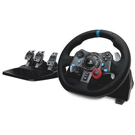 Volante Logitech Driving Force G92 941000110 para PlayStation 3 e 4 Bivolt - Preto