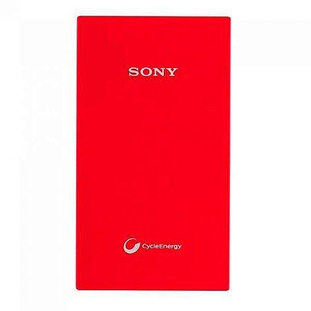Carregador Portátil Sony CP-V5A de 5.000 mAh - Vermelho