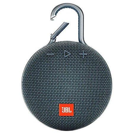 Speaker JBL Clip 3 com Bluetooth/Auxiliar Bateria 1.000 mAh