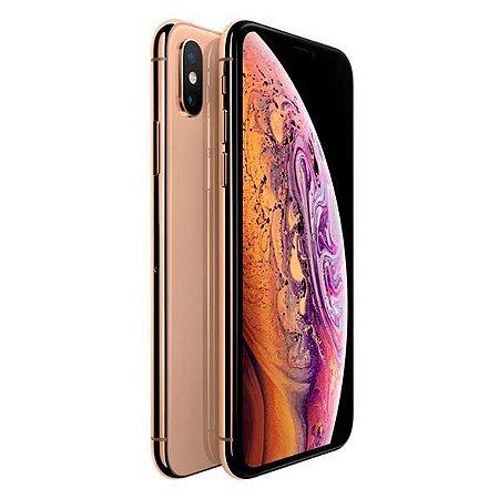 """Apple iPhone XS A1920 64GB Tela Super Retina OLED 5.8"""" 12MP/7MP iOS - Dourado"""