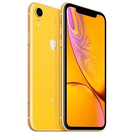 "Apple iPhone XR A2105 64GB Tela Liquid Retina 6.1"" 12MP/7MP iOS - Amarelo"