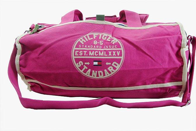 b12449f31 Bolsa Sacola Sport Tommy Hilfiger - Rosa e branco - ED Multimarcas ...