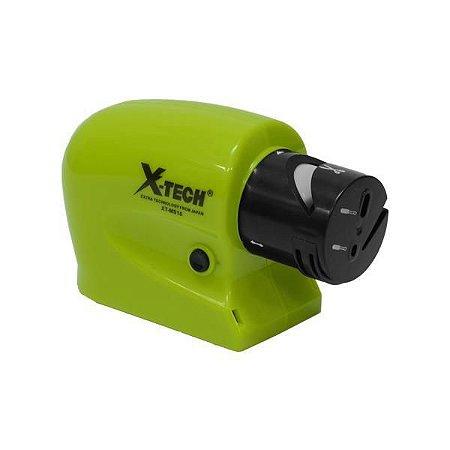 Amolador de Facas X-Tech XT-MS15 4 em 1 a Pilha - Verde/Preto