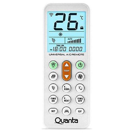 Controle para Ar Condicionado Universal Quanta QTEAC3020 a Pilha - Branco
