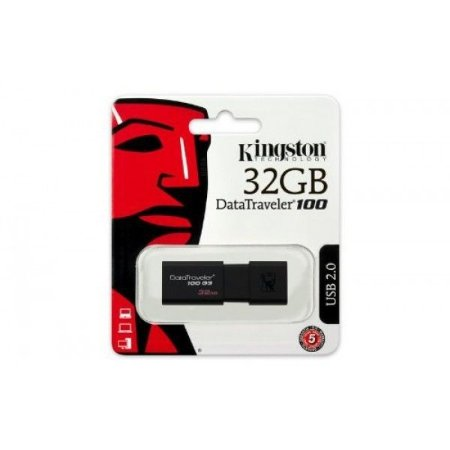 Pendrive de 32GB Kingston DataTraveler 100 DT100G3/32GB - Preto