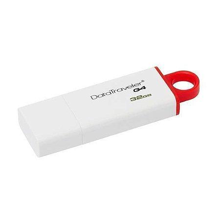 Pendrive de 32GB Kingston DataTraveler G4 DTIG4/32GB - Branco/Vermelho