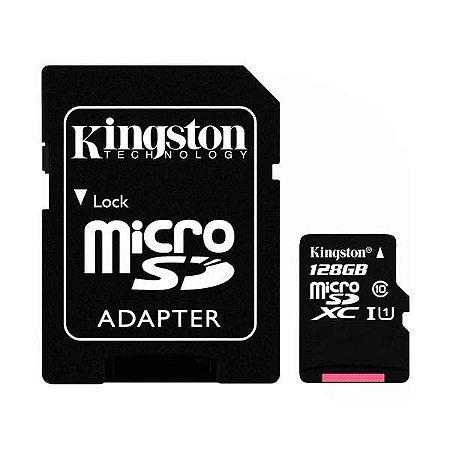 Cartão de Memória Micro SD Kingston SDCS de 128GB MSDXC-I - Preto