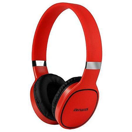Fone de Ouvido Sem Fio Aiwa AW2 Pro com Bluetooth/Microfone - Vermelho