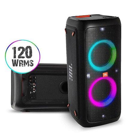 Caixa De Som Portátil Jbl Party Box 300 Bluetooth Led Usb 120 Wrms Bateria 18hrs -