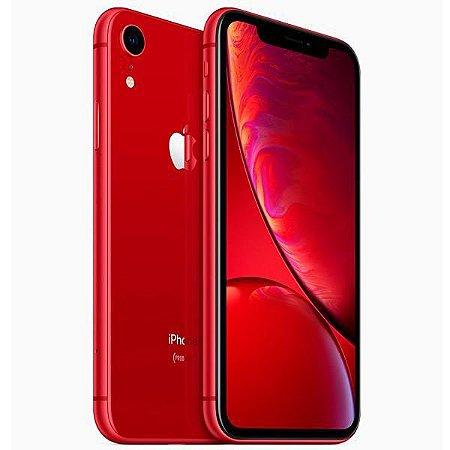 "Apple iPhone XR A2105 64GB Tela Liquid Retina 6.1"" 12MP/7MP iOS - Vermelho"