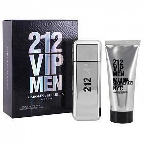 Kit Perfume Masculino 212 Vip Men Carolina Herrera 100ml + Gel para Banho 100ml