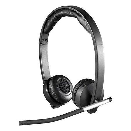Fone de Ouvido Sem Fio Logitech Mono H820E com Microfone - Preto
