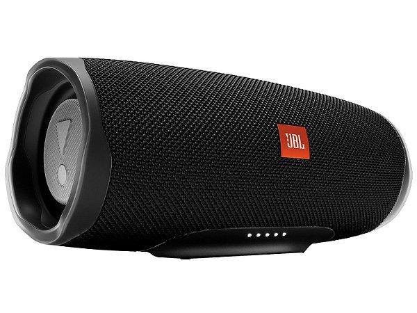 Speaker JBL Charge 4 30 watts RMS com Bluetooth/USB Bateria 7.500 mAh - Preta