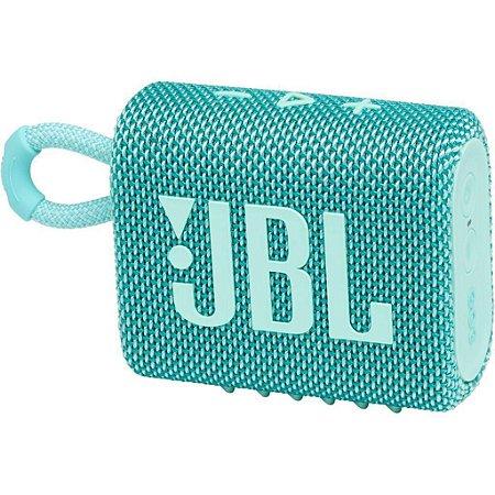Caixa de Som Portátil JBL Go 3 com Bluetooth À Prova de Poeira e Água