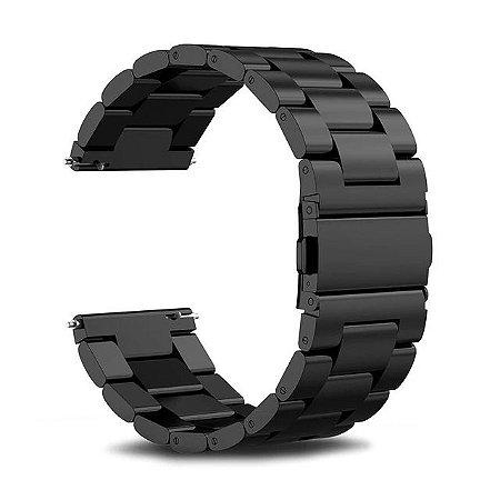 Puseira aço inoxidavel 22mm para smartwatch