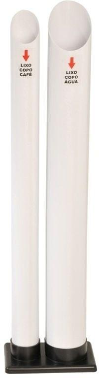 Descarte para copos usados com 2 tubos