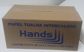 Papel Toalha Interfolhas Branco 2 Dobras HANDS