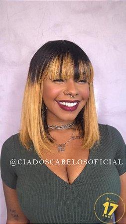 Peruca cabelo humano Chanel long loiro ombre
