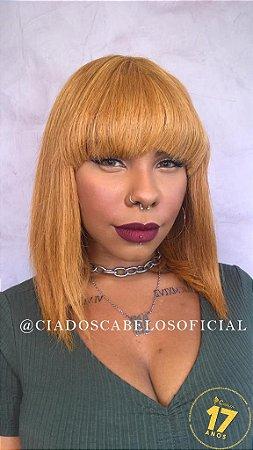 Peruca cabelo humano Chanel long loiro dourado