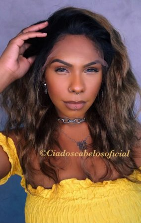 Peruca lace front cabelo humano ombre 11