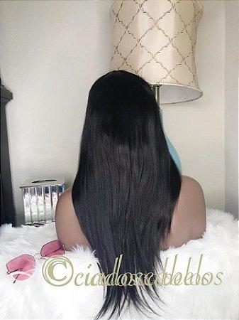 Peruca full lace cabelo humano com silk top glueless-COD112