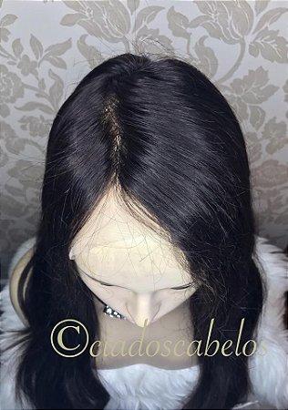 Peruca full lace cabelo humano malasiano glueless 65 cm- COD 113