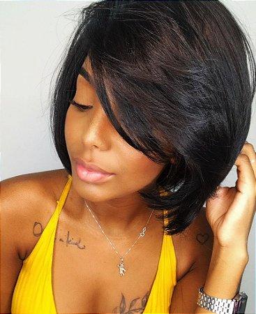 Peruca lace front wig Fibra futura premium curta Sonya