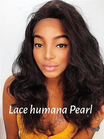 Peruca lace front cabelo humano ondulada Pearl