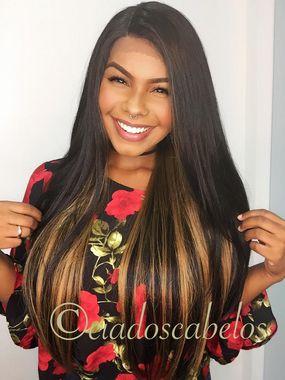 Peruca lace front wig Fibra futura premium Dominique ttol