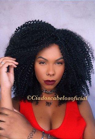 Peruca fibra futura Afro cacheada Amora