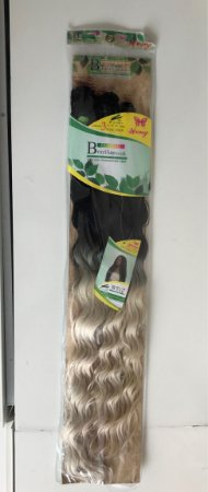 Pacote cabelo orgânico longo ondulado ombré loiro