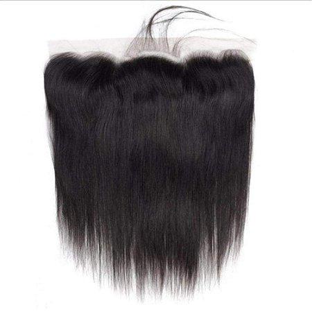 Lace frontal cabelo humano 40cm De Orelha A Orelha Liso