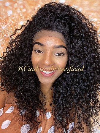 Lace 360 cabelo humano Afro cacheada Mia