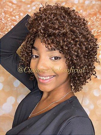 Peruca sintética Afro Cintia