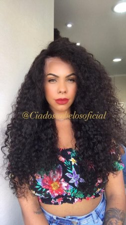 Lace front 13x6 baby hair cabelo humano cacheada  Paola 70 cm