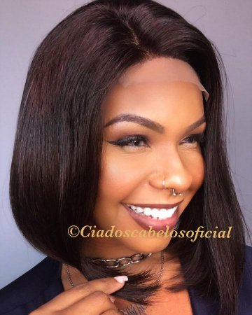 Peruca lace front cabelo humano 4x4 Livia