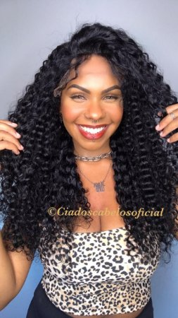 Peruca lace front 13x3 cabelo humano cacheado 301