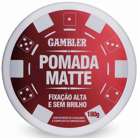 Pomada Efeito Matte Alta Fixação 180g Gambler