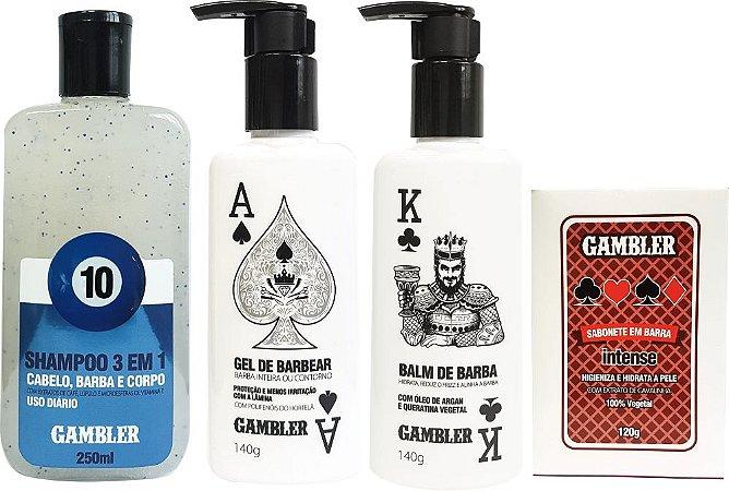 Kit para Barbudos Gambler - GRÁTIS NECESSAIRE