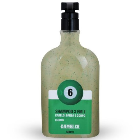 Shampoo 3 Em 1 Bola 6 Cabelos Oleosos 500ml Gambler