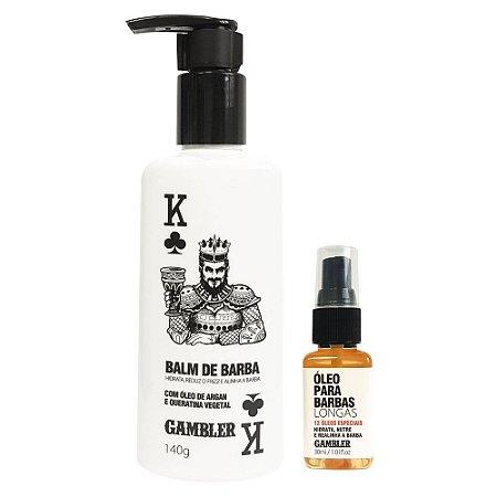 Kit Especial Balm de Barba 140g + Óleo para Barbas Longas 30ml