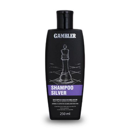 Shampoo Silver Desamarelador Gambler 250ml